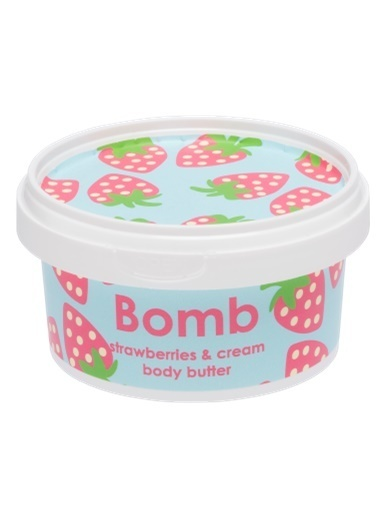Bomb Cosmetics Strawberry & Cream Body Butter 200ml Renksiz